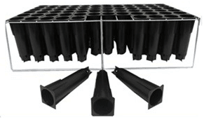 Seed Trays 72 unit with plastic tubes