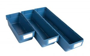 Delabin blue storage shelf bins