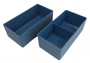 Dela Plast storage insert bins for small part storage